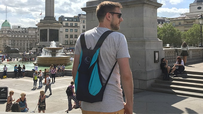 Mit dem TTTM Rucksack in London